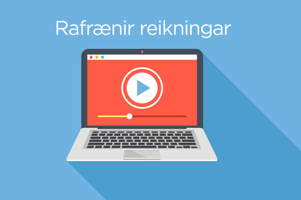 Namskeid.dk.is rafrænir reikningar